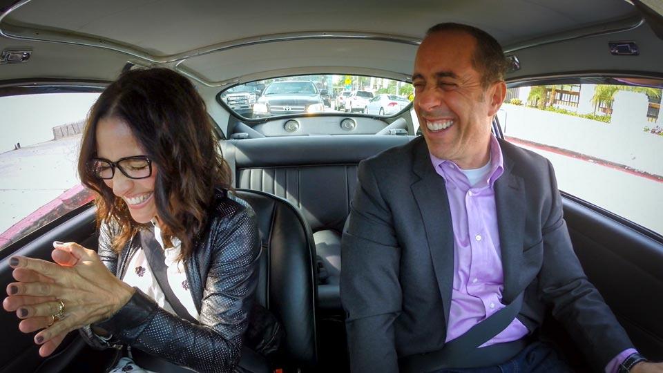 Jerry Seinfeld  &  Julia Louis-Dreyfus on Comedians in Cars Getting Coffee