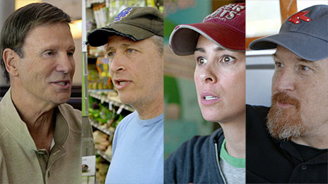 Jerry Seinfeld, Sarah Silverman, Louis C.K., Bob Einstein, Amy Schumer  &  Jon Stewart on Comedians in Cars Getting Coffee