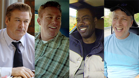 Jerry Seinfeld, Ricky Gervais, Brian Regan, Alec Baldwin, Jon Stewart  &  Chris Rock on Comedians in Cars Getting Coffee