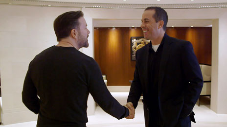 Jerry Seinfeld, Jerry Seinfeld, Sebastian Maniscalco, Bill Burr, Todd Barry, Howard Stern, Bob Einstein, Ricky Gervais, Sarah Silverman, Larry David, Jim Carrey,  Kathleen Madigan   &  Bill Maher on Comedians in Cars Getting Coffee