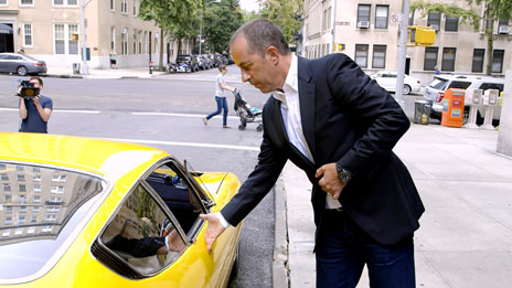 Jerry Seinfeld, Jerry Seinfeld, Jim Carrey, Julia Louis-Dreyfus, Bob Einstein, Patton Oswald, Michael Richards, Amy Schumer, Michael Richards, Sarah Jessica Parker, Alec Baldwin, Robert Klein, David Letterman, Miranda Sings, Jon Stewart, Steve Harvey, Jay Leno, Gad Elmaleh, Tina Fey  &  Trevor Noah on Comedians in Cars Getting Coffee