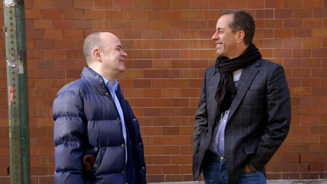 Jerry Seinfeld, Jerry Seinfeld, Patton Oswald, Michael Richards, Jim Carrey, Louis C.K., Trevor Noah, Todd Barry, Steve Harvey, Steve Martin, Stephen Colbert, Jimmy Fallon, Kevin Hart  &  Howard Stern on Comedians in Cars Getting Coffee
