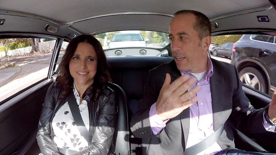 Jerry Seinfeld, Jerry Seinfeld, Steve Martin, Bill Maher  &  Julia Louis-Dreyfus on Comedians in Cars Getting Coffee
