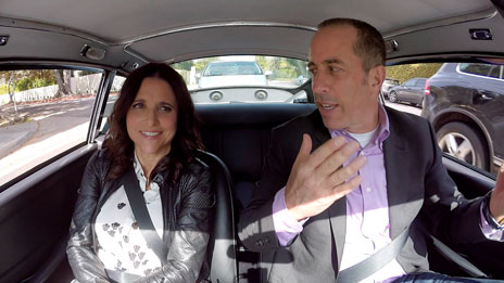Jerry Seinfeld, Jerry Seinfeld, Steve Martin, Bill Maher  &  Julia Louis-Dreyfus on Comedians in Cars Getting Coffee