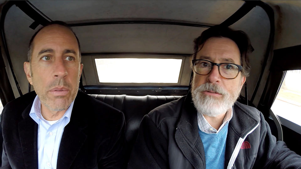 Jerry Seinfeld, Jerry Seinfeld, Amy Schumer, Tina Fey, Miranda Sings, Stephen Colbert, Jimmy Fallon, Steve Martin, David Letterman  &  Todd Barry on Comedians in Cars Getting Coffee