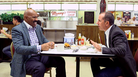 Jerry Seinfeld, Jerry Seinfeld, Don Rickles, Louis C.K., Sebastian Maniscalco, Miranda Sings, Alec Baldwin, Stephen Colbert  &  Steve Harvey on Comedians in Cars Getting Coffee