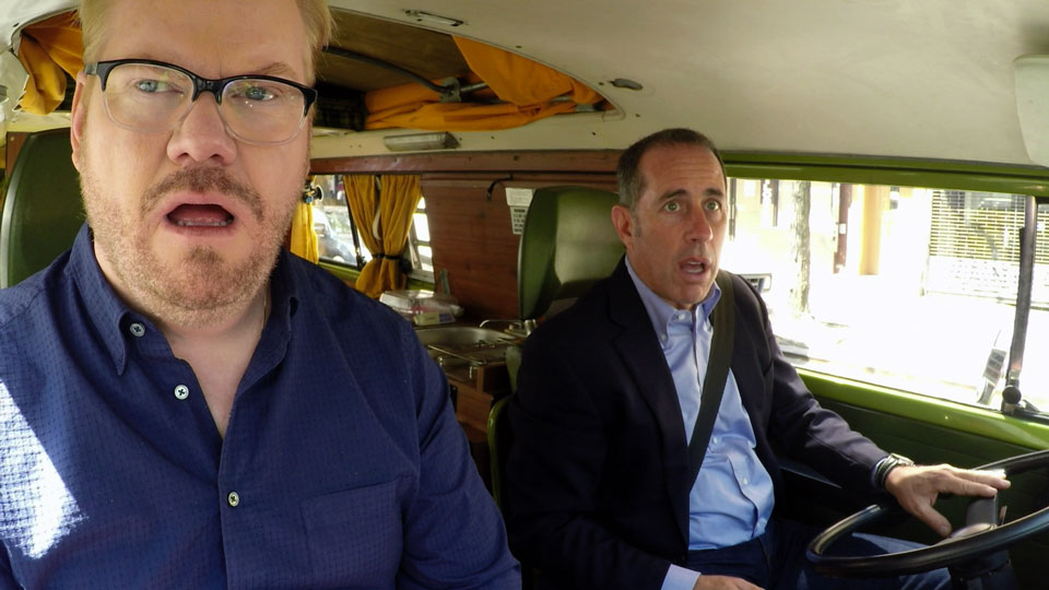 Jerry Seinfeld, Jerry Seinfeld, Jim Gaffigan, Ricky Gervais, Barry Marder, Sarah Jessica Parker  &  Miranda Sings on Comedians in Cars Getting Coffee