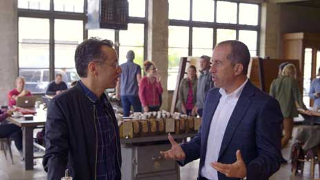 Jerry Seinfeld, Jerry Seinfeld, Miranda Sings, Larry David, Fred Armisen, Sarah Jessica Parker, Bill Burr, Howard Stern, Jay Leno, Steve Martin, Kevin Hart  &  Will Ferrell on Comedians in Cars Getting Coffee