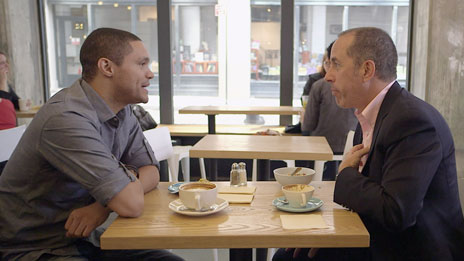 Jerry Seinfeld, Jerry Seinfeld, Julia Louis-Dreyfus, Brian Regan, Louis C.K., Stephen Colbert, Howard Stern, Todd Barry, Aziz Ansari, Ali Wentworth, Jimmy Fallon, Tina Fey, Bob Einstein, Kathleen Madigan  &  Chuck Martin on Comedians in Cars Getting Coffee