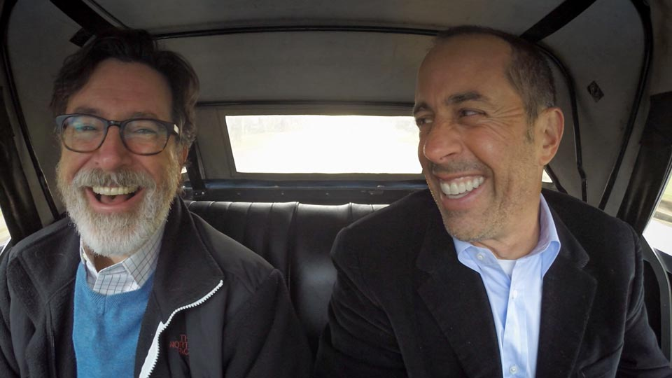 Jerry Seinfeld  &  Stephen Colbert on Comedians in Cars Getting Coffee
