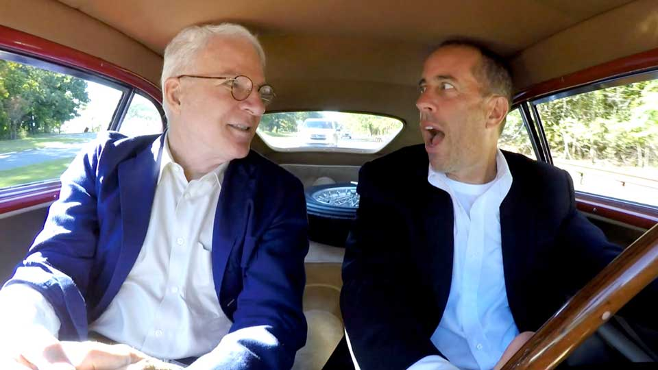 Jerry Seinfeld  &  Steve Martin on Comedians in Cars Getting Coffee